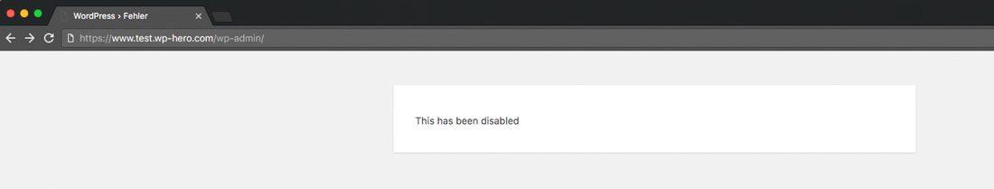 WPS Hide Login Fehlermeldung - WordPress einloggen