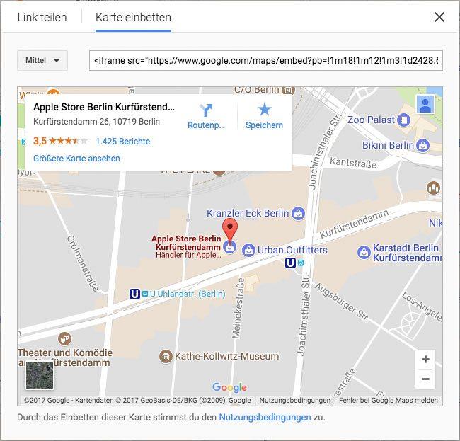 Iframe in WordPress einbinden - Google Maps Karte einbetten