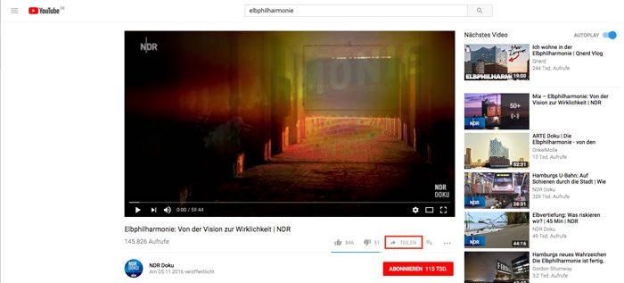Iframe in WordPress einbinden - YouTube-Video teilen