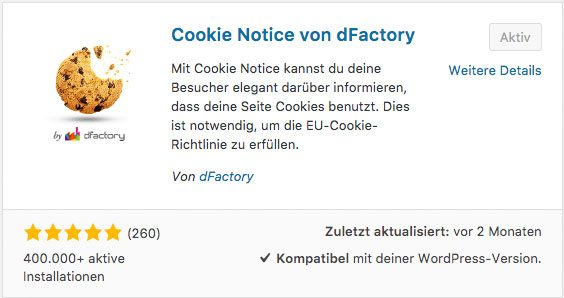 WordPress Cookie Plugin - dFactory