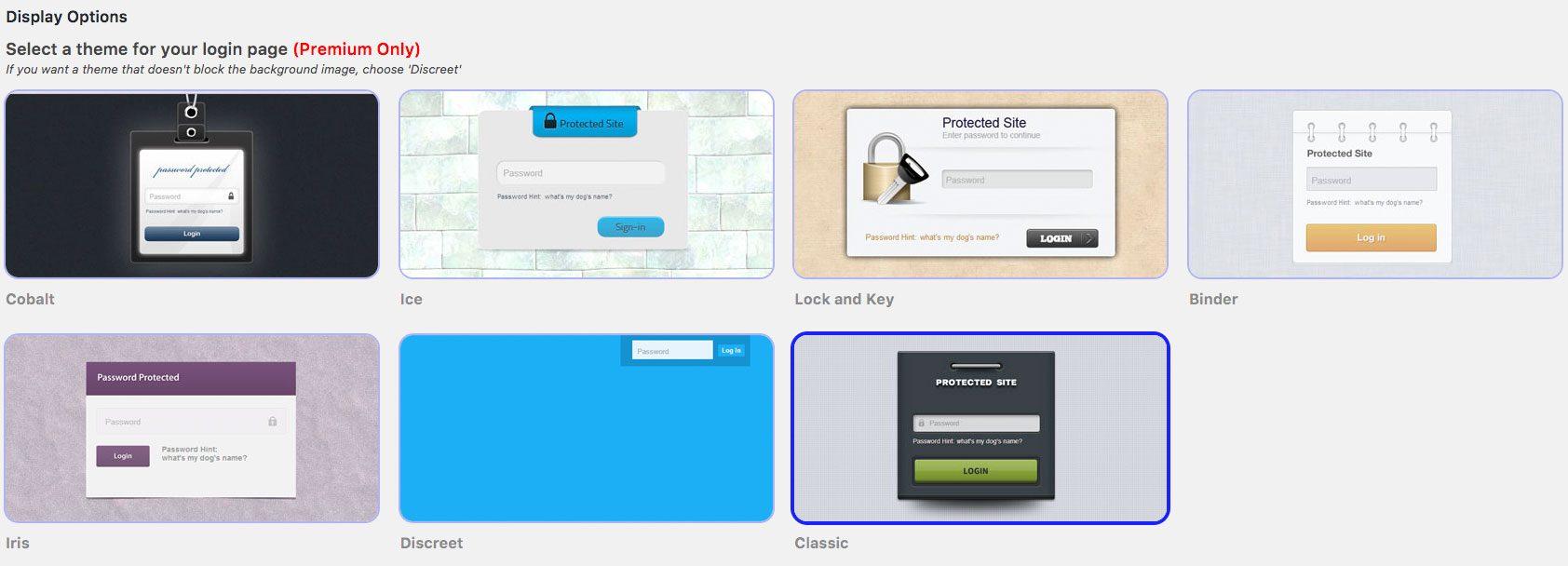 WordPress Seite mit Passwort schützen - Hide My Site Premiumthemes
