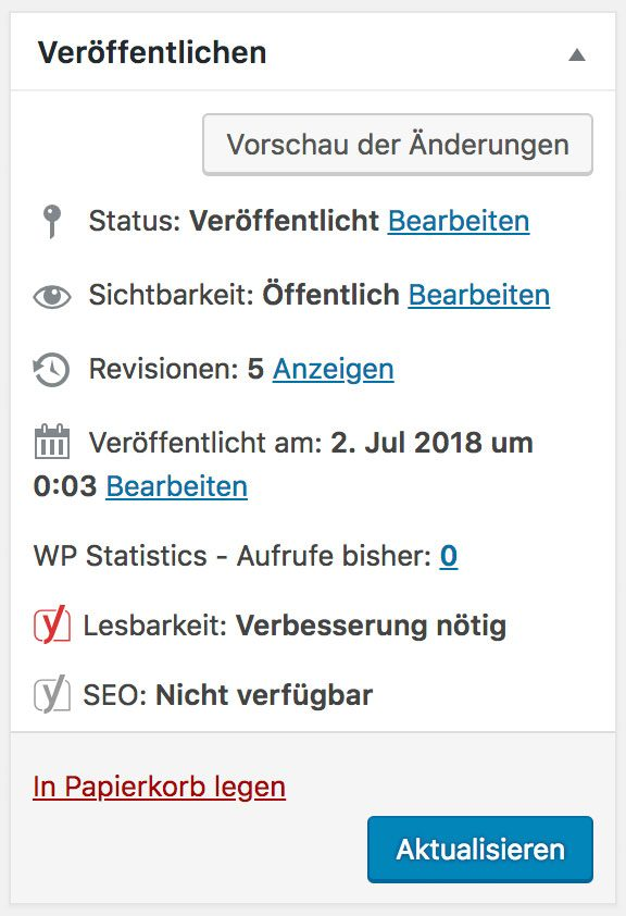 WordPress Revisionen anzeigen